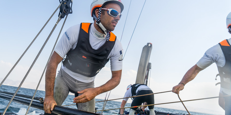 Photo of Welcome back Franck Cammas! He will be the helmsman on Groupama Team France in NYC