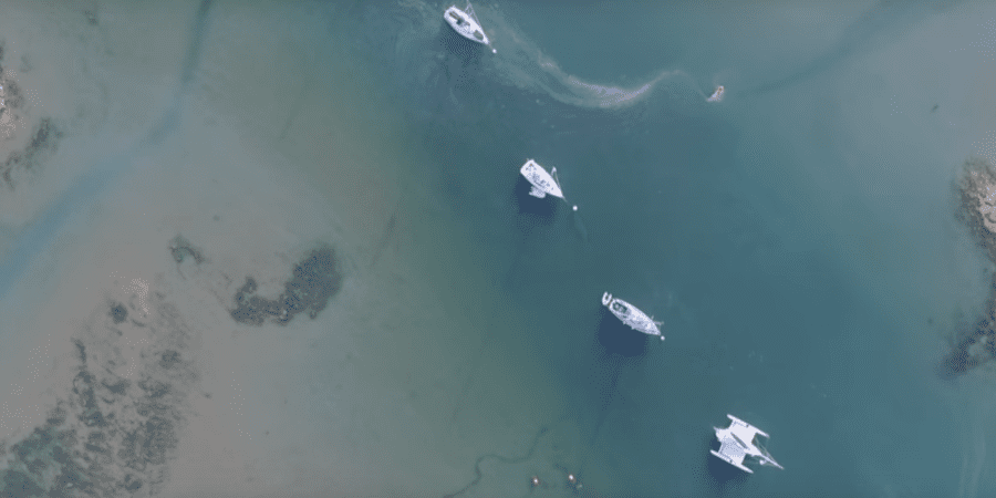 Photo of Flying over the Solent, a perfect place for sailing. VIDEO