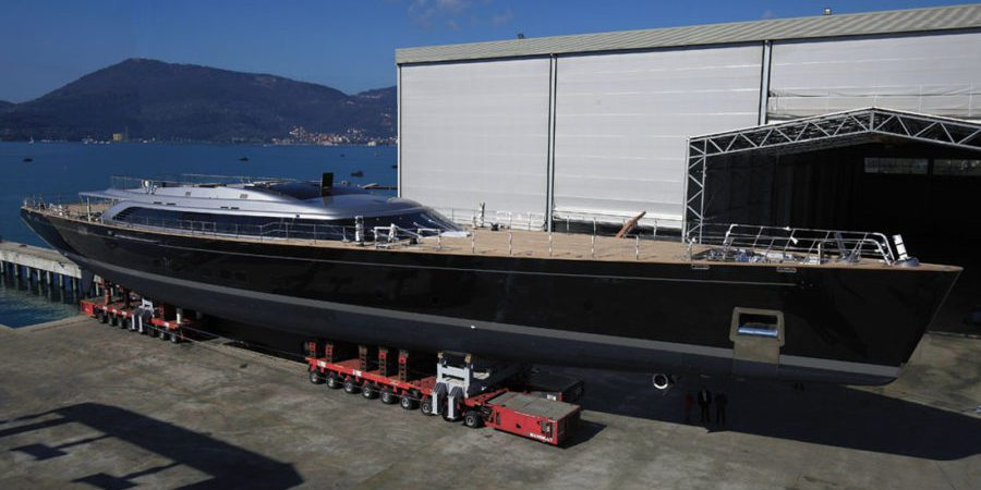 Photo of Perini Navi 70m Sy Sybaris: video of the launching and mast stepping operations