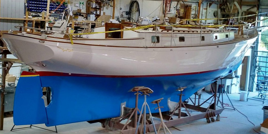 Photo of Cherubini 44, the classic handcrafted sailboat made in USA