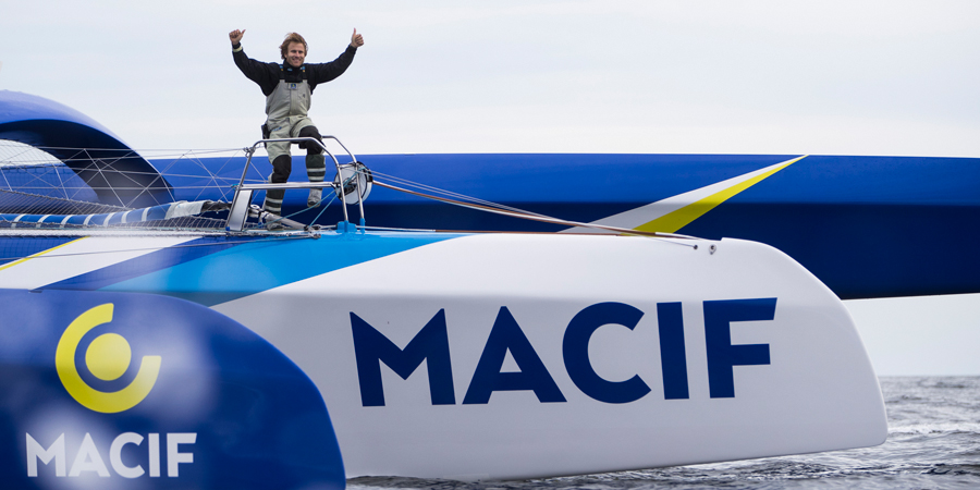 Photo of François Gabart wins his first solo race aboard the trimaran MACIF: The Transat Bakerly