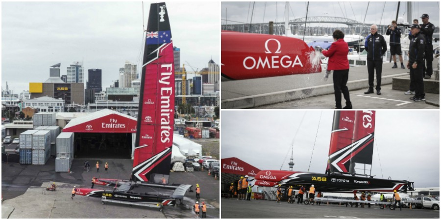 Photo of Emirates Team New Zealand launch their fastest boat yet