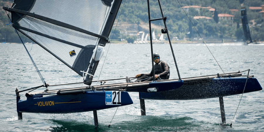 Photo of Voilavion, is it a catamaran or a… windsurf?