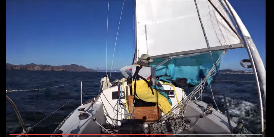 Photo of A Singlehanded Spinnaker peel? It's Child's play… VIDEO