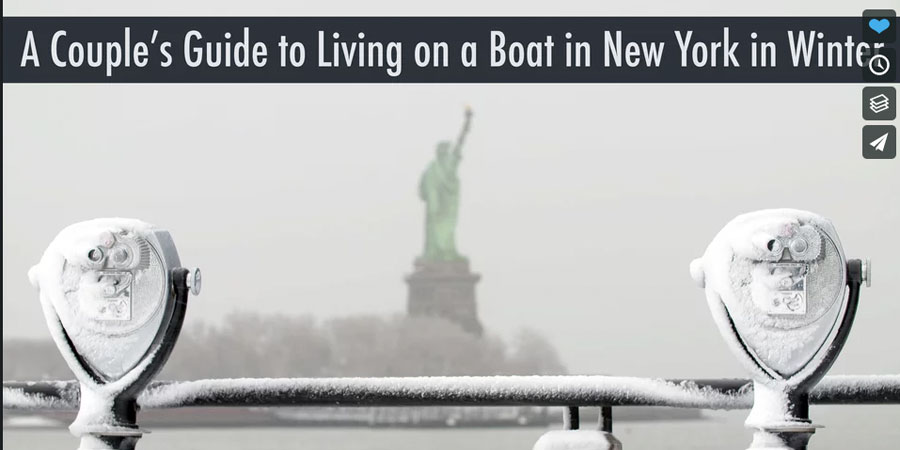 Photo of A Couple's Guide to Living on a Sailboat in New York in Winter