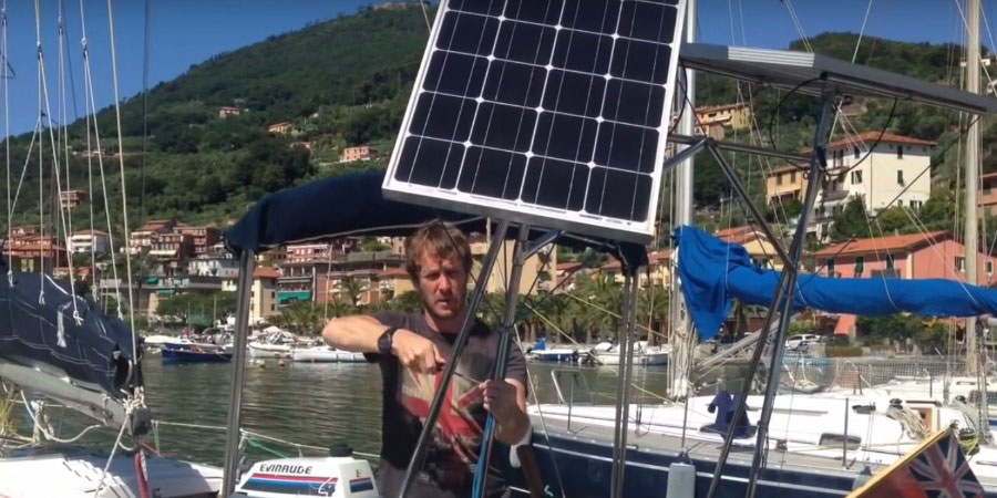 Photo of How to fit Big Solar Panels on a small Boat. VIDEO