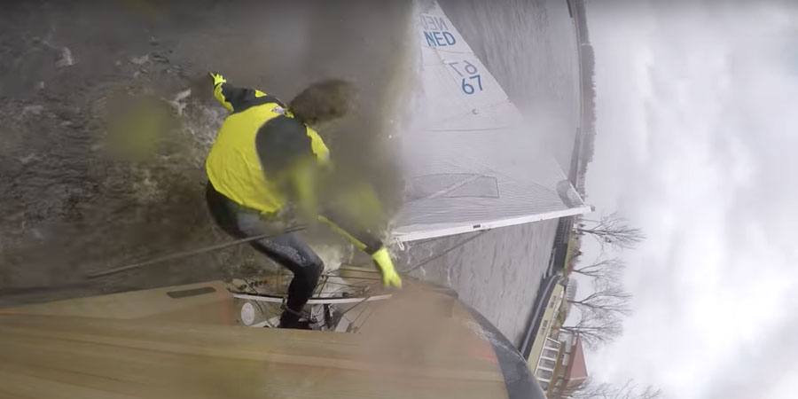 Photo of Finn sailing in 50 knots of wind: a good idea? VIDEO