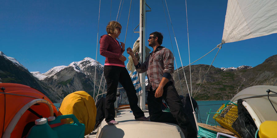 """Photo of Megan and Rob from Venture Lives: """"Sailing means adventure and new beginnings"""""""