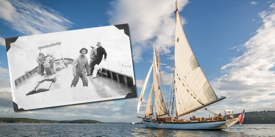 Photo of Schooner Zodiac's 1925 voyage along the Canadian East Coast to the Arctic. VIDEO
