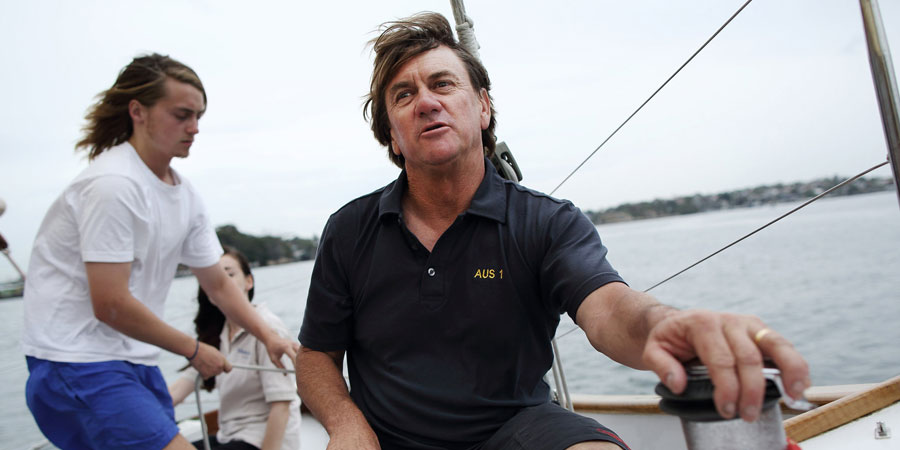 """Photo of Sean Langman: """"Sydney to Hobart organizers have to include multihulls"""""""