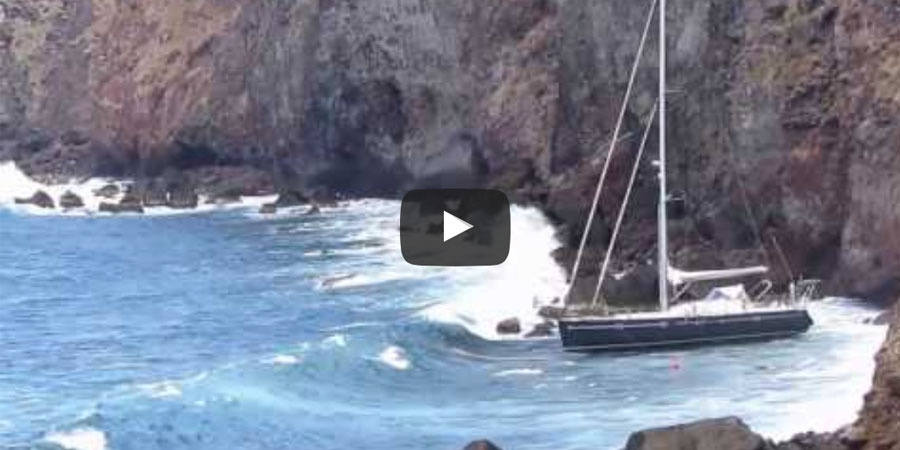 Photo of French Yacht Salvage from Ladder Bay, St Marteen. VIDEO