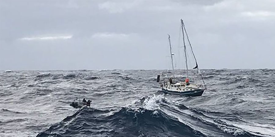 Photo of Sailors rescued from 'enormous seas' off Australia