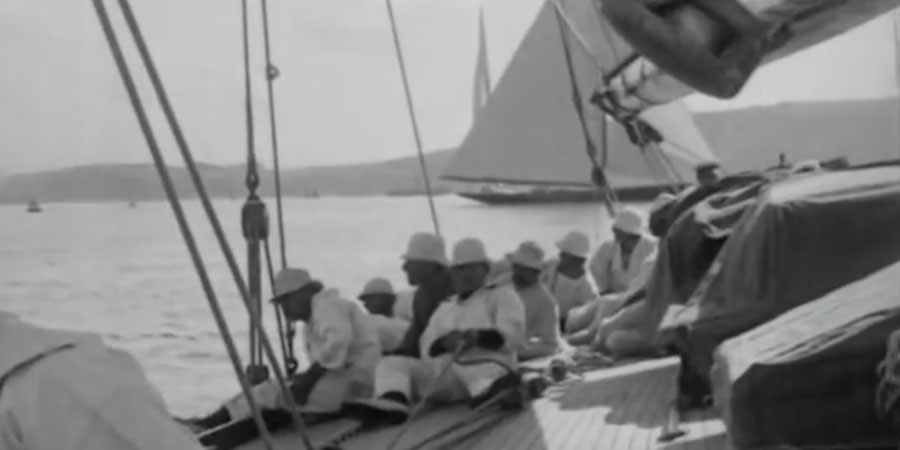 "Photo of A special video from the past: sailing aboard Sir Lipton's famous ""Shamrock"""