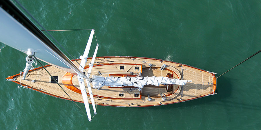 """Photo of Sean McMillan: """"Building a Yacht in Wood Requires an Extremely Skilled Workforce"""""""