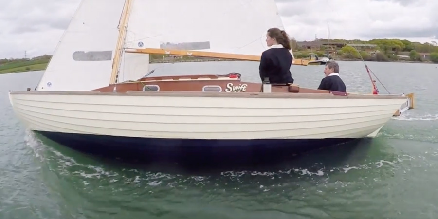 He bought a Folkboat for a £1. A year later he owns the Best Looking Boat of her type in UK