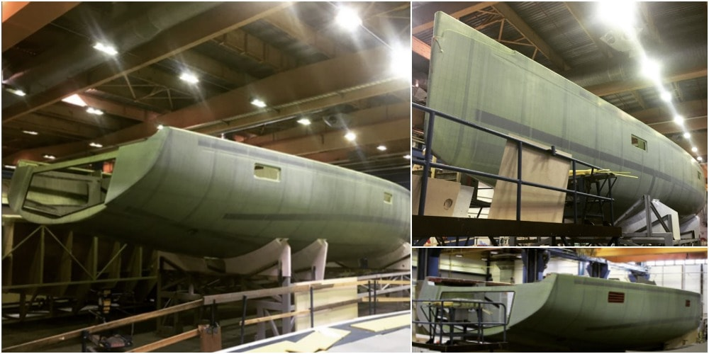 Photo of Nautor's Swan have just completed the hull of the first Swan 78