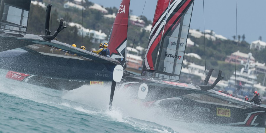 Photo of Peter Burling and Emirates Team New Zealand: match point!
