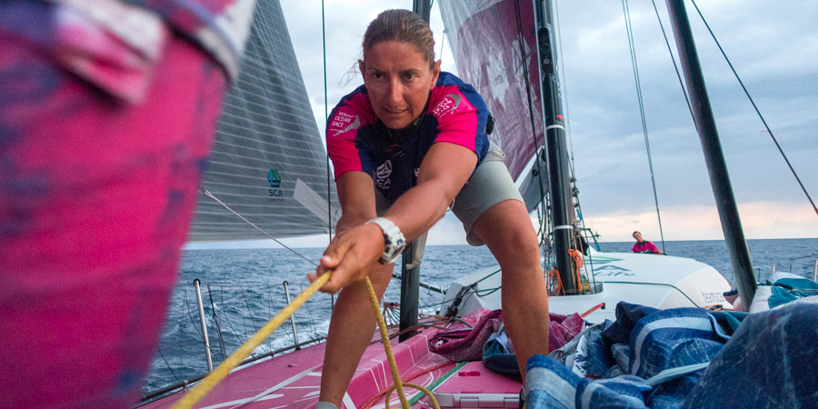 Photo of Volvo Ocean Race. Dee Caffari will lead a youth team with a sustainability message