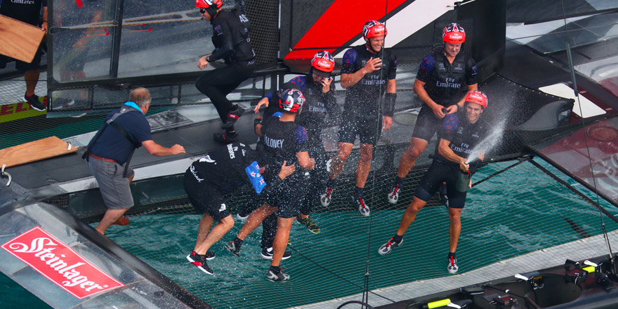 Photo of America's Cup. Emirates Team New Zealand has earned a rematch against Oracle