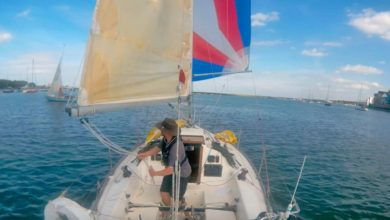 Photo of Sailing single handed with a spinnaker: some hints and tips. VIDEO