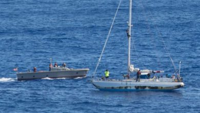 Photo of 2 Sailors and their Dogs Rescued after Nonths adrift at Sea