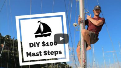 Photo of Our DIY Mast Steps: Manufactured and Fitted for Less Than $100!