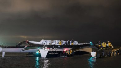 Photo of Spindrift 2 Dismasts on Way to Starting Jules Verne Trophy Attempt