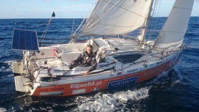 Photo of Szymon Kuczynski World Record for the Smallest Yacht around the Globe Solo and Non-Stop