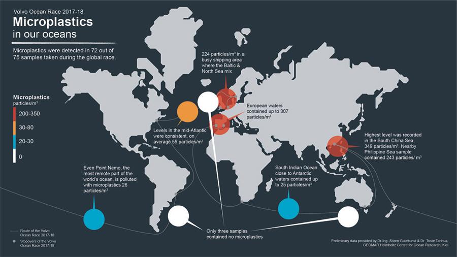 global microplastic map