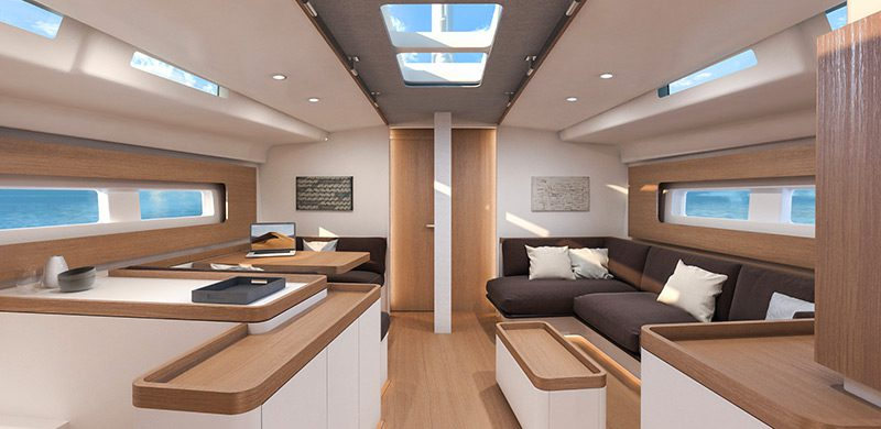Beneteau first yacht 53 interiors