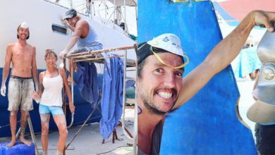 Photo of Sailing Nandji Ep 130 – Painting our Boat on the Cheap | Sailboat Refit