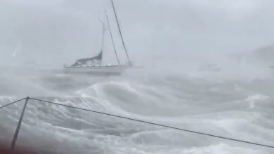 "Photo of BEST OF 2019. ""This is insane!"" Sailor Records Video As He Rides Out Storm"