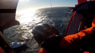 Photo of US Coast Guard Rescues 3 People And A Dog. VIDEO