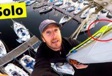 Photo of Climbing A Sailboat Mast… All Alone! VIDEO