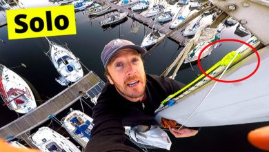 Photo of Climbing A Sailboat Mast… All Alone! VIDEO