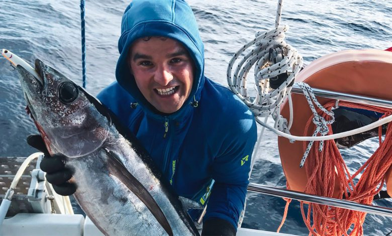 Photo of When Sailing We Fished Our First Tuna