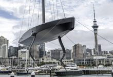 Photo of Te Kahu, The Emirates Team New Zealand Test Boat Launched