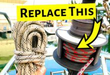 Photo of Sailing Britaly: How To Replace a Furling Line
