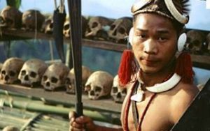 Who nicknamed states inhabited by macho-warlike tribes the 'Seven Sisters'?