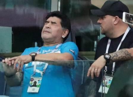 Maradonna jives, celebrates, collapses after Argentina Win