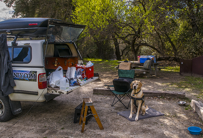 Our campground at Pinnacles National Park.