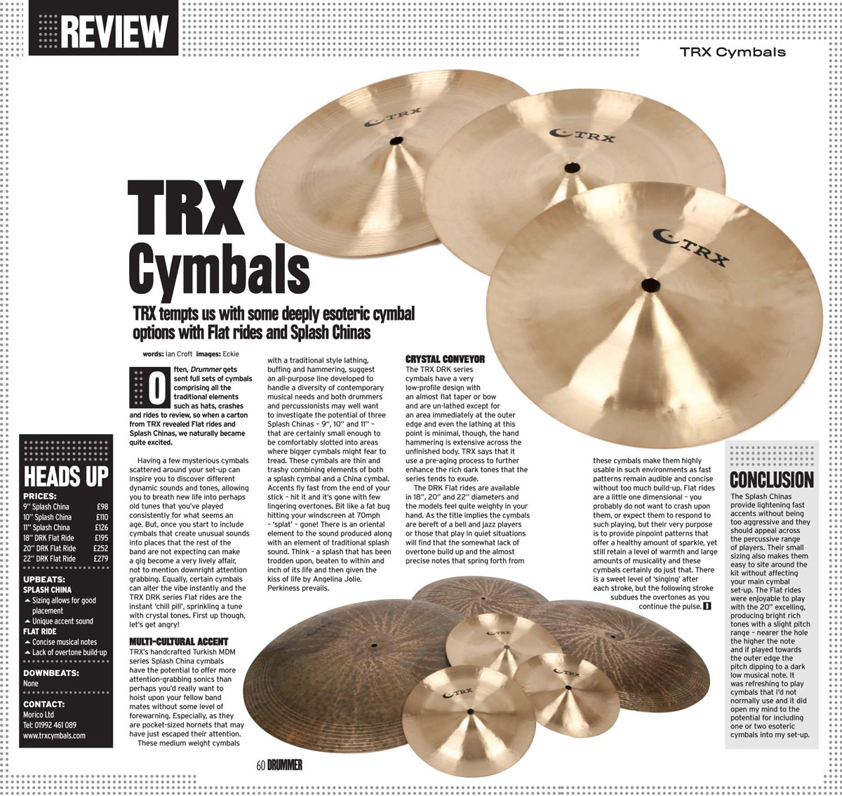 TRX Specials Review In Drummer Magazine