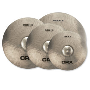 CRX Rock II Set: 14″ Hi-Hat, 16″ Crash, 18″ Crash, 20″ Ride W/ Bag