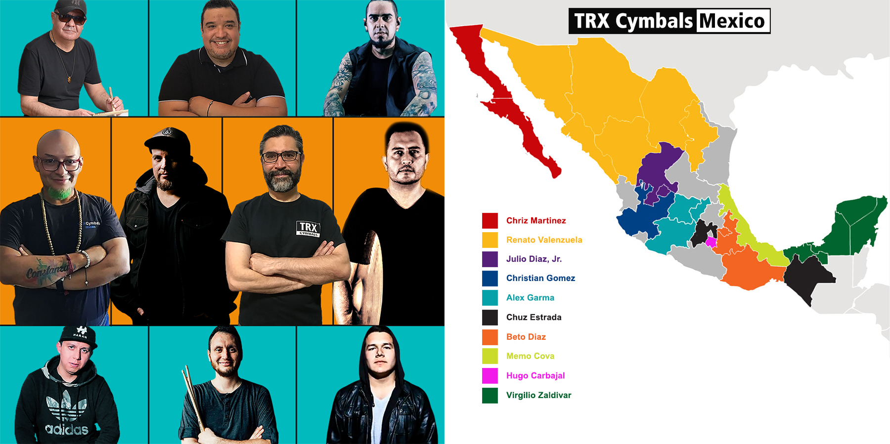 TRX Cymbals Announces NEW Artist/Ambassador Network For Mexico.
