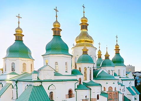 St. Sophia Cathedral (Eastern Orthodox Cathedral) - UNESCO World Heritage Site. Kiev, Ukraine.