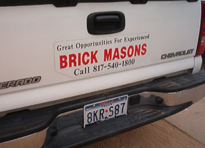 We Are Always looking for Great Brick Masons