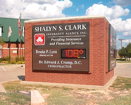 Large Commercial Brick Sign