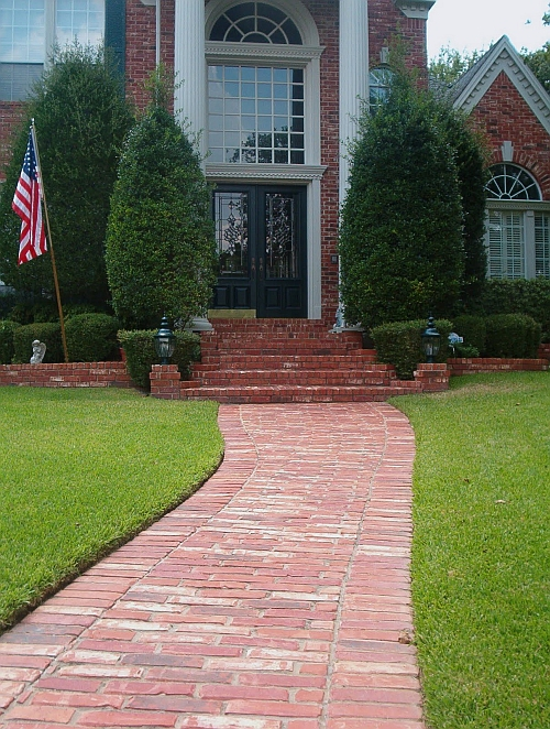 picture of brick walkway entry.