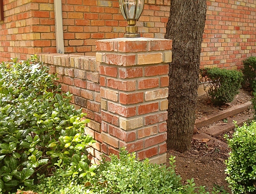 picture of repaired brick wing wall