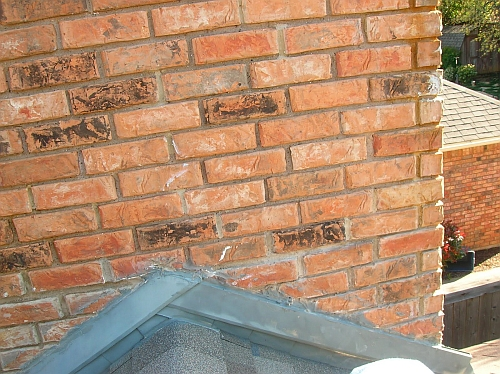 picture of brick chimney counter flashing
